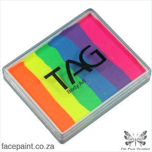 Tag Face Paint Split Cake Base Blender Neon Rainbow Paints
