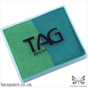 Tag Face Paint Split Cake Base Blender Pearl Green /pearl Lime Paints