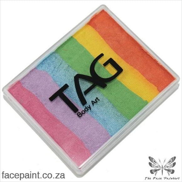 Tag Face Paint Split Cake Base Blender Pearl Rainbow Delight Paints