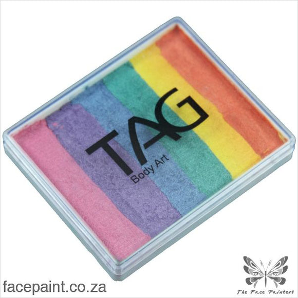 Tag Face Paint Split Cake Base Blender Pearl Rainbow Paints