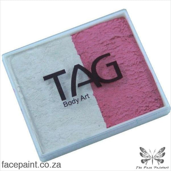 Tag Face Paint Split Cake Base Blender Pearl White / Rose Paints