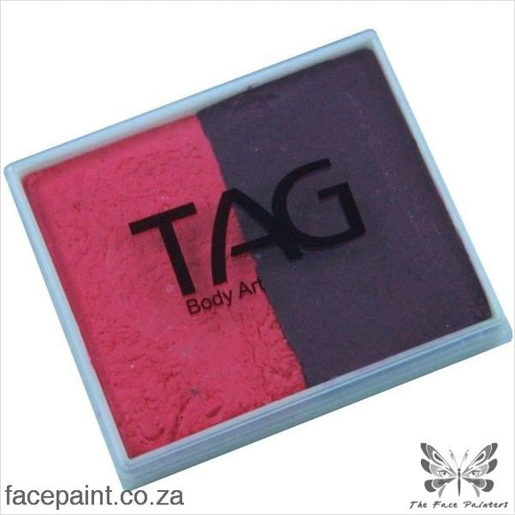 Tag Face Paint Split Cake Base Blender Pink / Berry Wine Paints