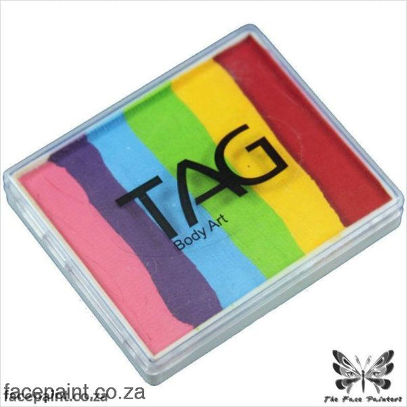 Tag Face Paint Split Cake Base Blender Regular Rainbow Paints