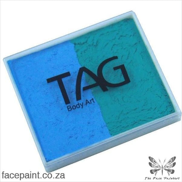 Tag Face Paint Split Cake Base Blender Teal / Light Blue Paints