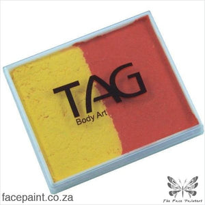 Tag Face Paint Split Cake Base Blender Yellow / Orange Paints