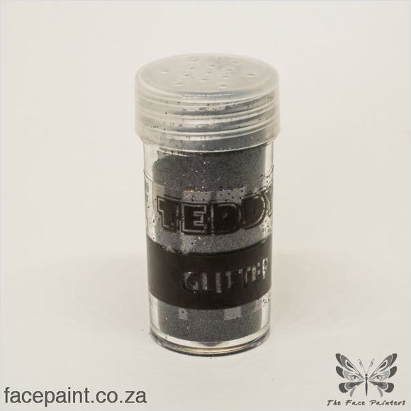 Teddy Glitter Shaker Metallic Black