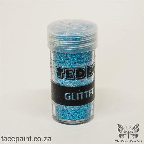 Teddy Glitter Shaker Metallic Blue
