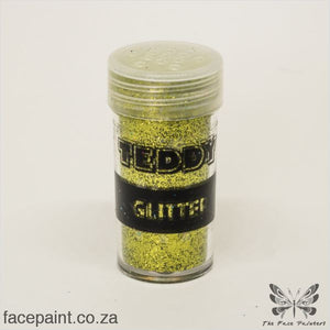 Teddy Glitter Shaker Metallic Lime