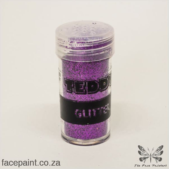 Teddy Glitter Shaker Metallic Purple