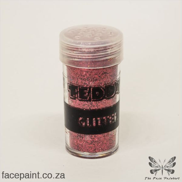 Teddy Glitter Shaker Metallic Red