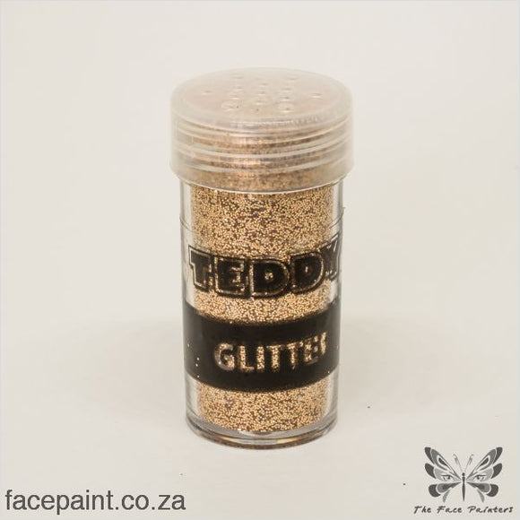 Teddy Glitter Shaker Metallic Rich Gold