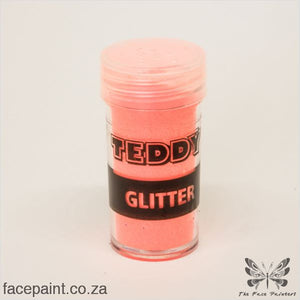 Teddy Glitter Shaker Neon Orange