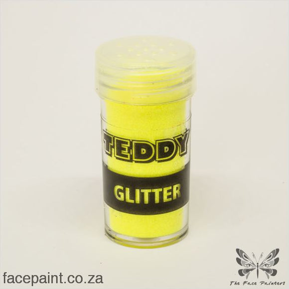 Teddy Glitter Shaker Neon Yellow