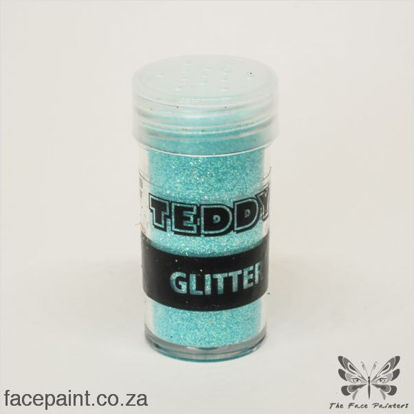 Teddy Glitter Shaker Rainbow Blue
