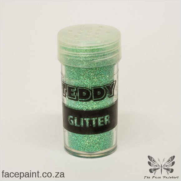 Teddy Glitter Shaker Rainbow Green