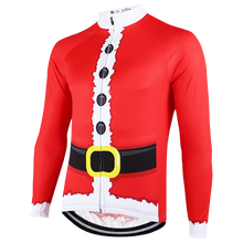 Long Sleeve Santa Claus Cycling Jersey