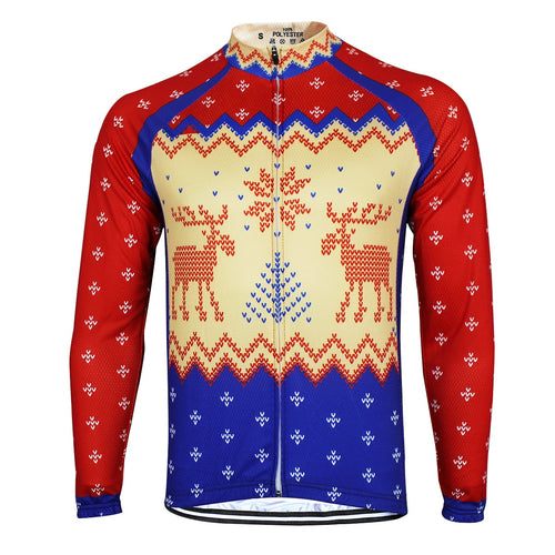 Red and Blue Christmas Jumper Long Sleeve Jersey