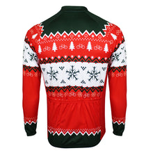 Green and Red Christmas Jumper Long Sleeve Jersey