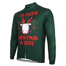 "Festive ""Oh Deer Christmas is Here"" Long Sleeve Jersey"