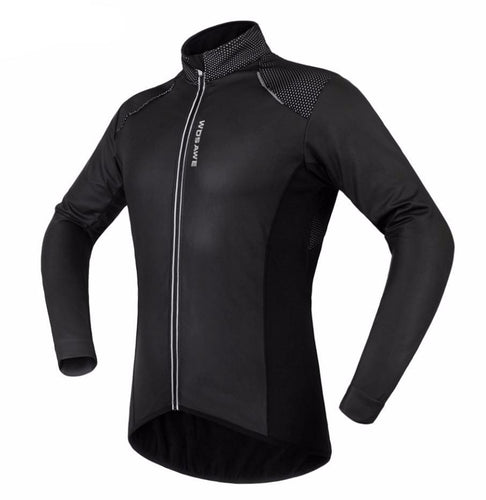Stealth Winter Thermal Fleece Cycling Jacket