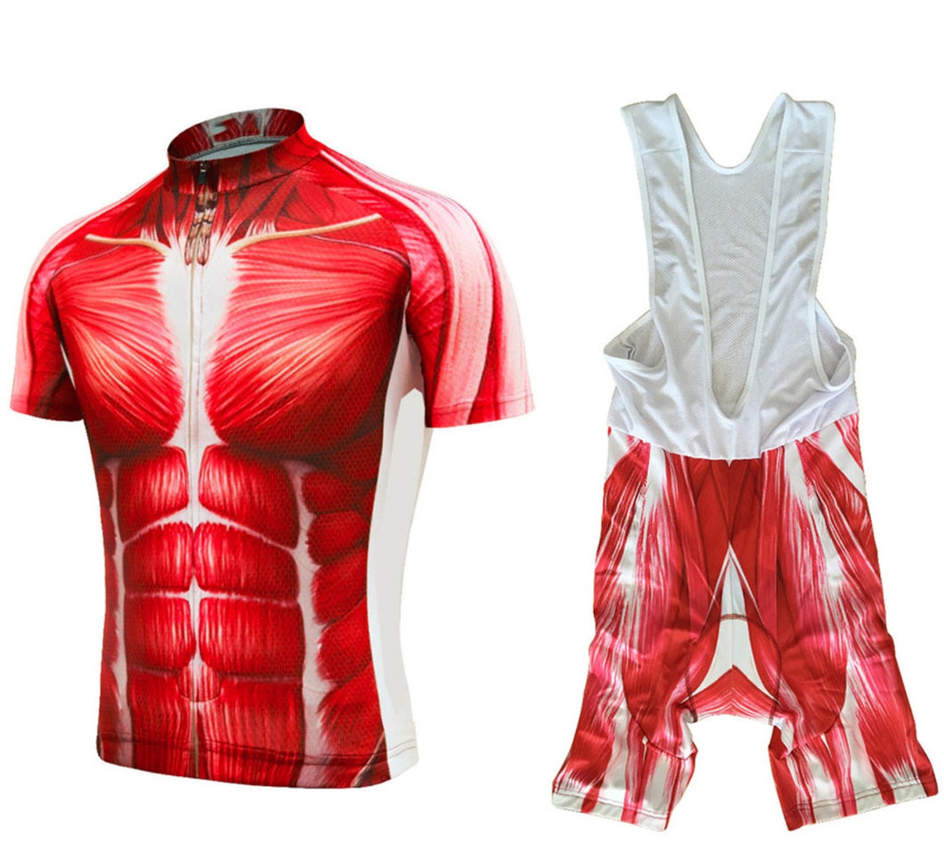 Torso Men Cycling Jersey and Bib Shorts Set