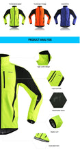 Load image into Gallery viewer, ARSUXEO Bright Colours Thermal Fleece Jacket