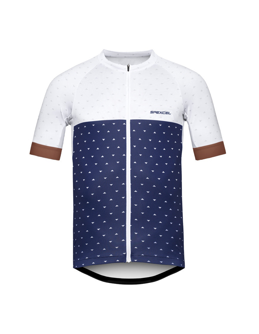 adc78fa5c Blue and White Cycling Jersey – Quirky Jerseys