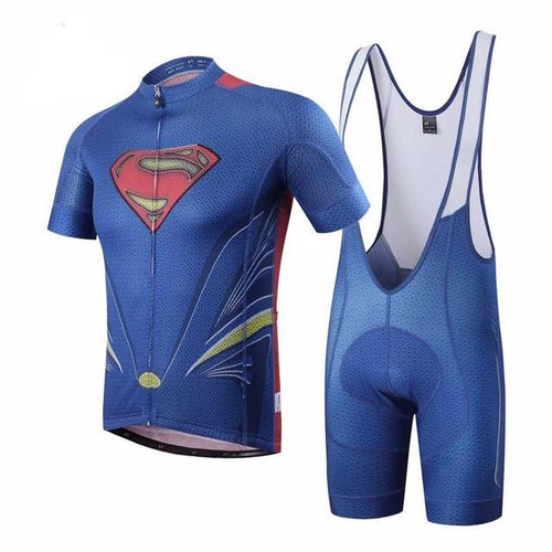 Superman Cycling Jersey and Shorts Combo