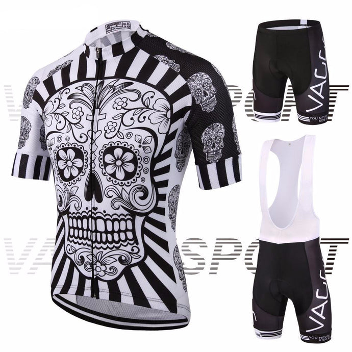 Skull Cycling Jersey and Shorts Combo