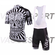 Load image into Gallery viewer, Skull Cycling Jersey and Shorts Combo
