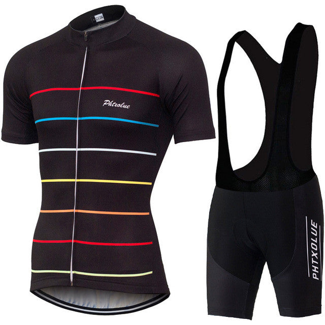 PHTXOLUE Dynamic Lines Jersey and Bib Shorts Combo
