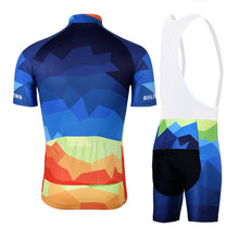 Load image into Gallery viewer, Multi Colour Shapes Cycling Jersey and Shorts Combo