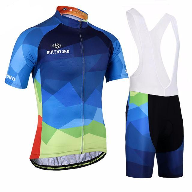 Multi Colour Shapes Cycling Jersey and Shorts Combo