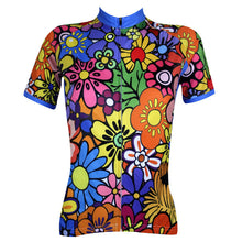 Load image into Gallery viewer, Sixties Flower Power Women Cycling Jersey
