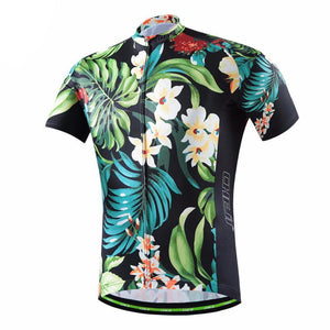 5cbb010d9 Tropical Flowers Cycling Jersey – Quirky Jerseys