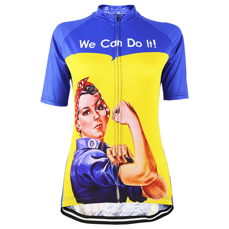 d4a727f08 We Can Do It Women Cycling Jersey – Quirky Jerseys