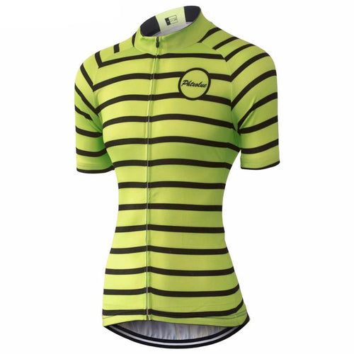 Lime and Stipe Women Cycling Jersey