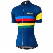 Colour Stripes Women Cycling Jersey