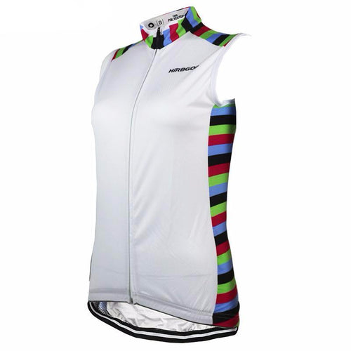 White With Colours Women Short Sleeve Cycling Jersey