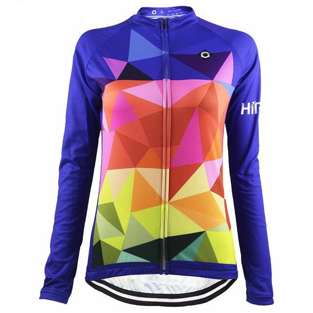 Trippy Triangles Long Sleeve Women Jersey