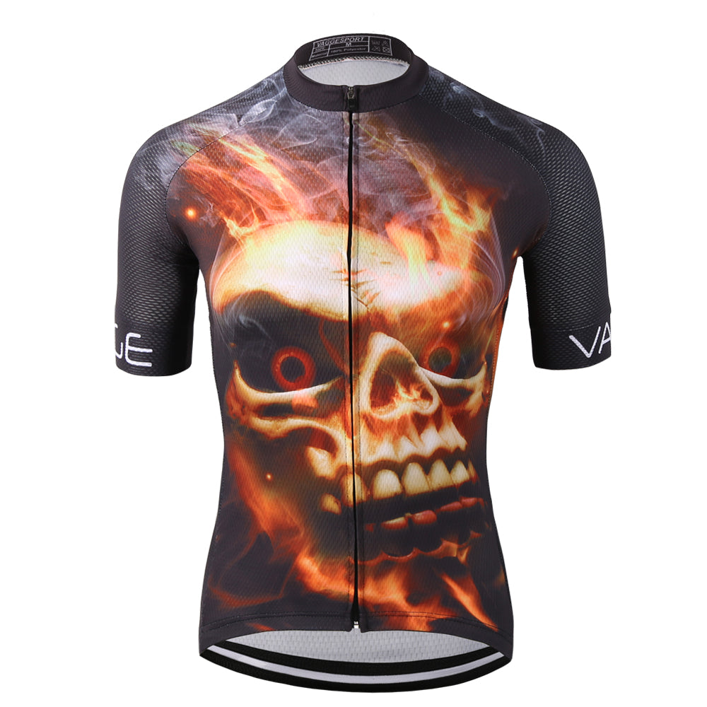 Crazy Fire Skull Cycling Jersey