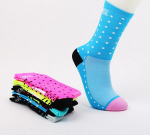 Multi Colour Polka Dot Cycling Socks