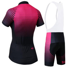 Dots and Lines Women Cycling Jersey and Shorts Combo