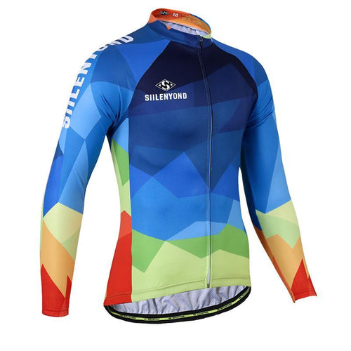 Multi Colour Triangle Men's Long Sleeve Jersey