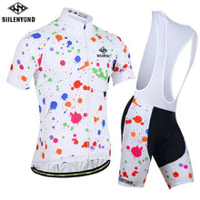 Paint Splash Cycling Jersey and Shorts Combo