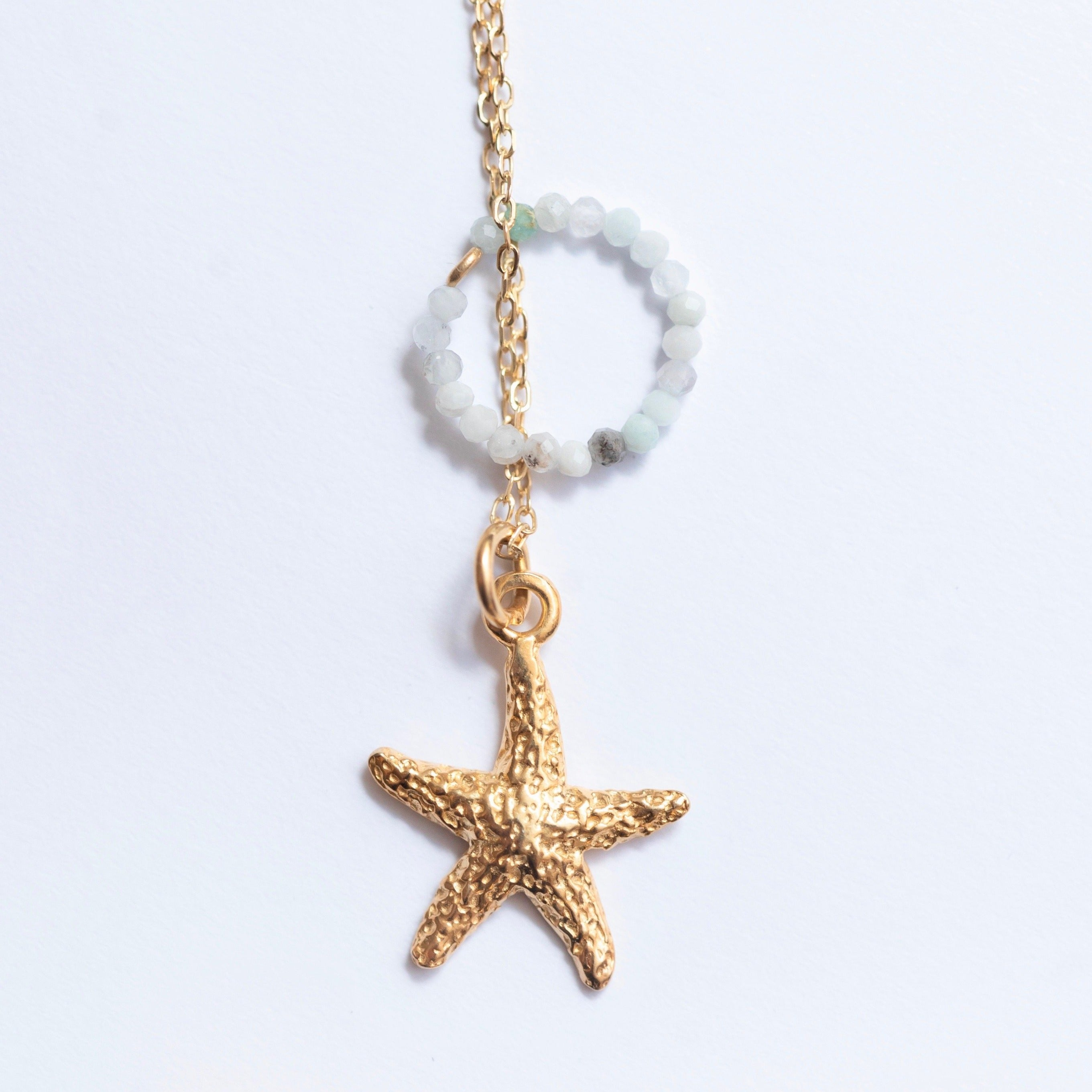 Sea Star - Amazonite - Gold Plated