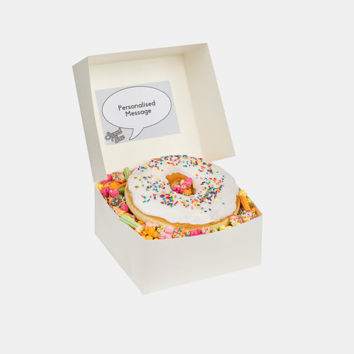 Sweet Box Melbourne Jumbo White Donut Box