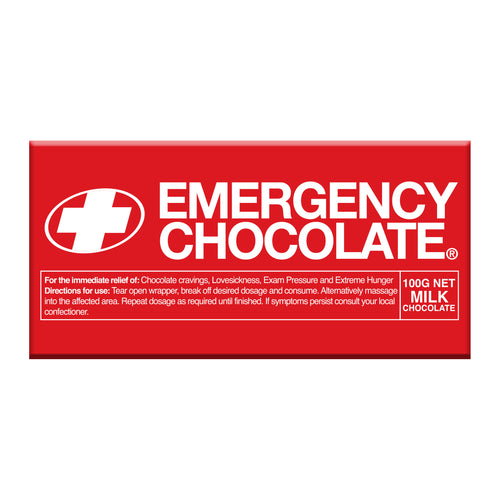 Milk Chocolate Bar - Emergency Chocolate