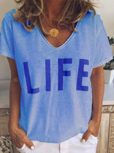 Short Sleeve Loose Casual Long Section Printed T-Shirt