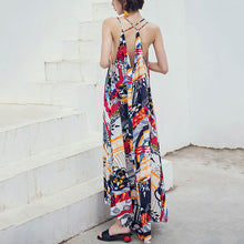 Sexy Fashion Sling Backless Beach Vacation Dress